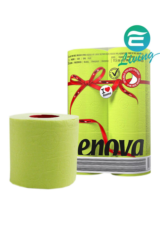 RENOVA 綠色 浴廁用衛生紙 (一組六捲) #20749