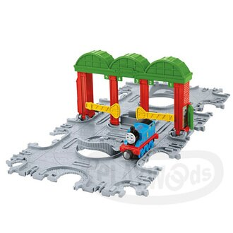 【Playwoods】[湯瑪士小火車]Take-n-play帶著走系列:Knapford火車站磁鐵軌道遊戲組Knapford Station Tile Tracks(費雪牌Fisher Price/T..
