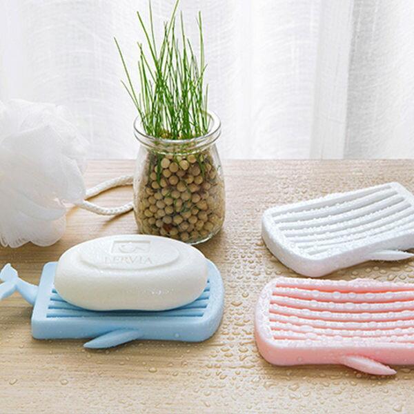 PSMall鯨魚肥皂盒創意浴室塑膠香皂盒【J284】