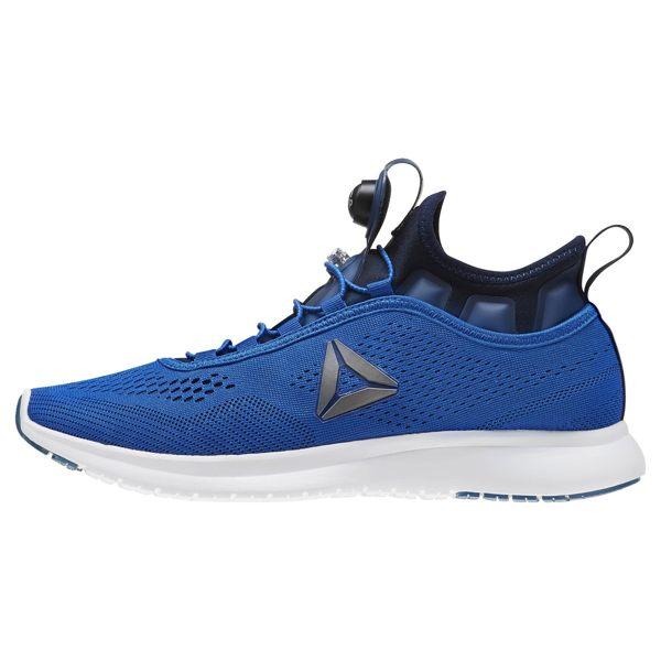Reebok Pump Plus Tech 男鞋 慢跑 舒適 充氣 緩震 EVA中底 藍 白【運動世界】 BD4863