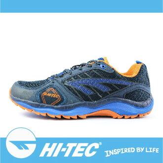 萬特戶外運動 HI-TEC 哈樂卡 S HARAKA TRAIL S A005460031 男超輕野跑鞋 支撐性佳 緩衝性佳 透氣舒適 藍/橘色