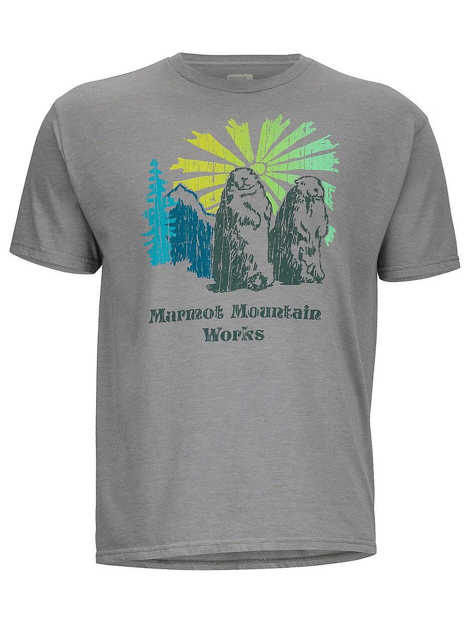 ~登山樂~美國Marmot土撥鼠 Heritage 男款短袖混棉紡吸濕排汗衣 灰^#536