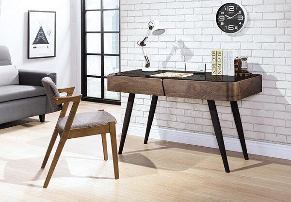 【尚品傢俱】HY-A506-01德瑞克4.2尺黑腳書桌