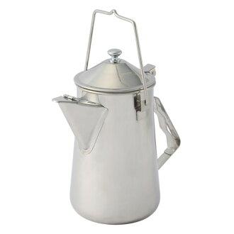 【露營趣】中和 附手電筒 Coleman不鏽鋼火爐茶壺 咖啡壺 燒水壺 不鏽鋼茶壺 CM-26788
