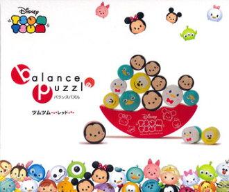 現貨 迪士尼 Tsum Tsum 木製疊疊樂翹翹板平衡玩具 可愛家居擺飾 紅色
