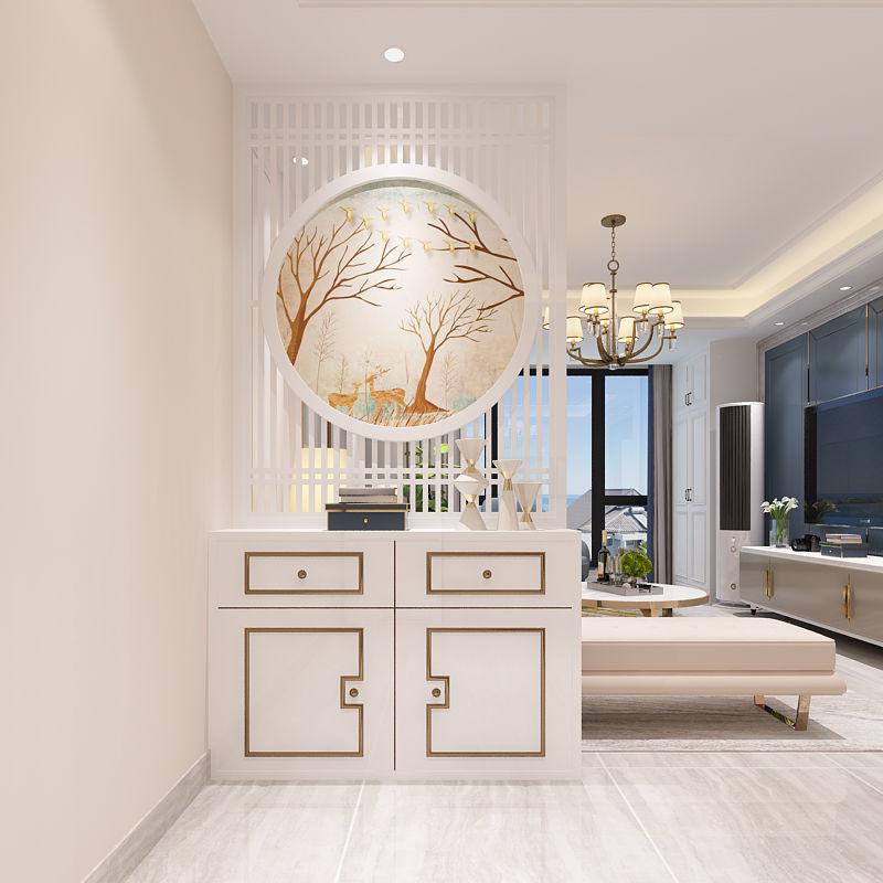 【618購物狂歡節】歐式輕奢屏風隔斷客廳臥室玄關大廳遮擋家用裝飾簡約現代實木座屏pd