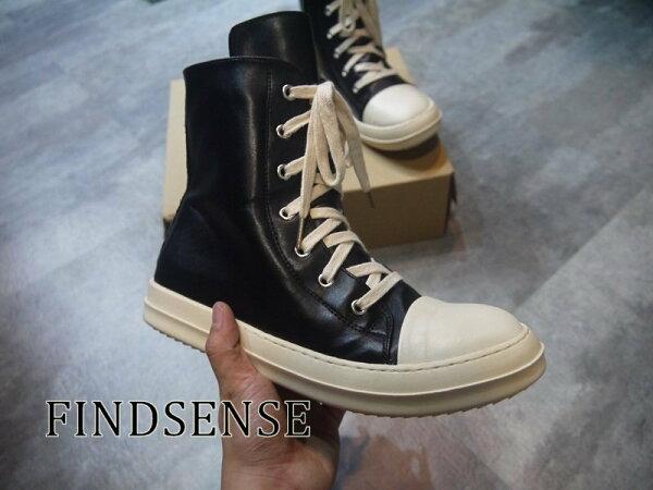 FINDSENSE品牌牛皮高筒休閒鞋皮鞋高端歐美打造拉鍊皮鞋真皮鞋非SLP聖羅NIKE