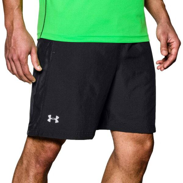 《UA出清6折》Shoestw【1265720-001】UNDERARMOURUA服飾短褲運動褲訓練褲有內裡7吋黑色男生