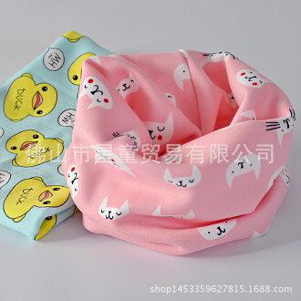 兒童圍巾男女童純棉套頭脖套嬰兒春秋秋冬季圍脖