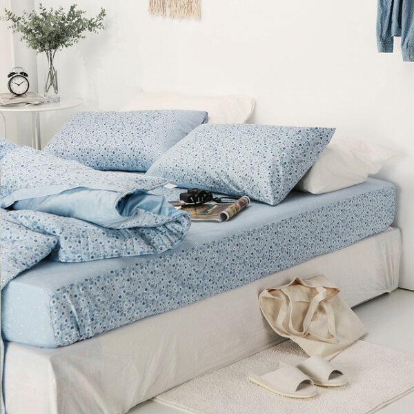 床包兩用被套組雙人加大【南法小鎮】含兩件枕頭套四件組,精梳棉台灣製絲薇諾