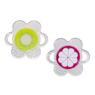 【安琪兒】【mombella】小花咬水果固齒器2入組 1