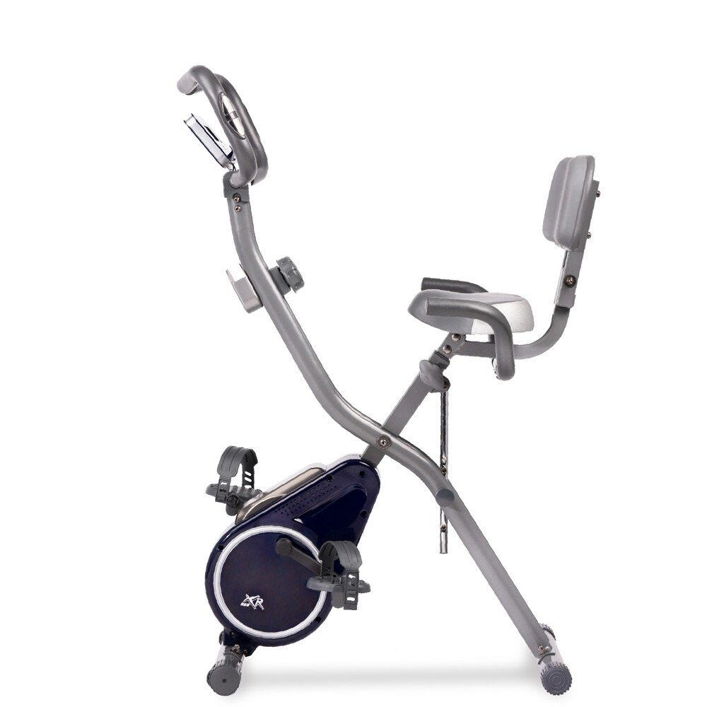 XR-G4藏藍銀 全新進化渦輪式二合一磁控飛輪健身車 【WELLCOME好吉康】