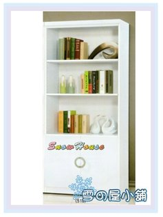 ╭☆雪之屋居家生活館☆╯AA548-03牛津書櫃(白)(2.7尺開門櫃)(518)置物櫃收納櫃書架