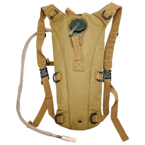 2L Hydration System Climbing Survival Hiking Pouch Backpack (Khaki)