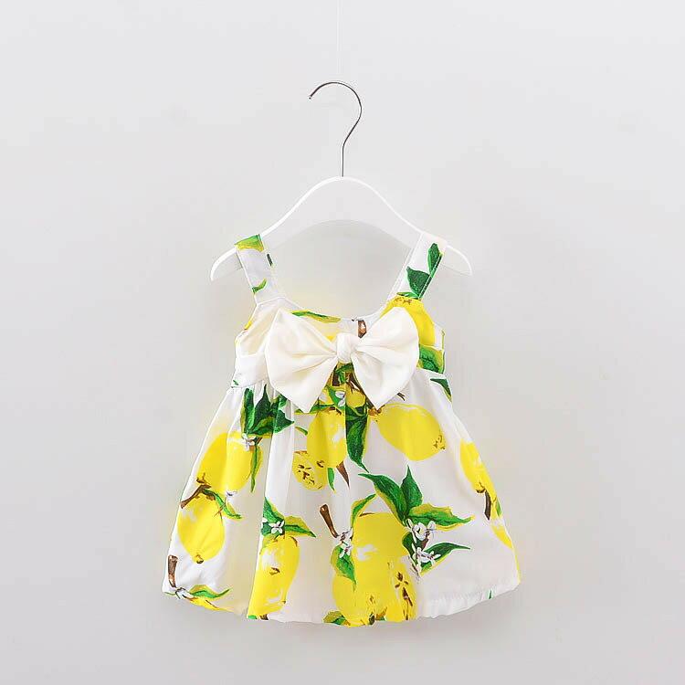 2017年 夏裝 無袖洋裝 連衣裙 背心裙 女童  大蝴蝶結款 棉質 透氣