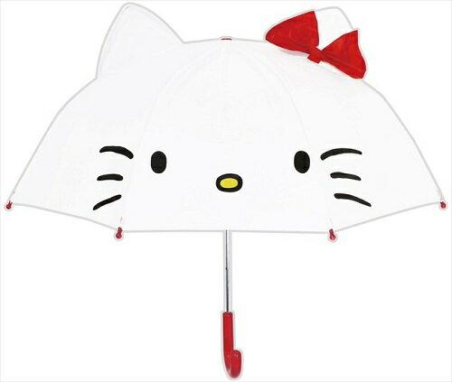 大賀屋 日貨 Hello Kitty 兒童傘 雨傘 耳朵傘 直傘 造型傘 傘 三麗鷗 KT 凱蒂貓 J00013377