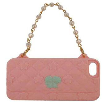 日本GD iPhone 5 / 5S / SE KikiLala 晚宴包保護套(粉紅底) 手機套