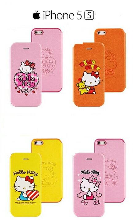 正品 APPLE iPhone5 / 5S HELLO KITTY 側掀皮套 手機套 凱蒂貓保護套