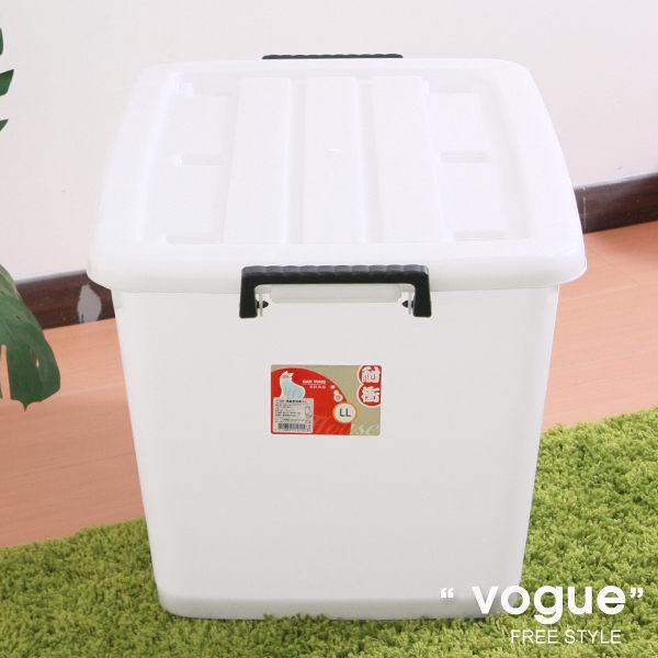 E&J【660013】Mr.box免運費,D1200滑輪整理箱LL110L(3入) 收納箱/收納袋/衣櫃/衣櫥