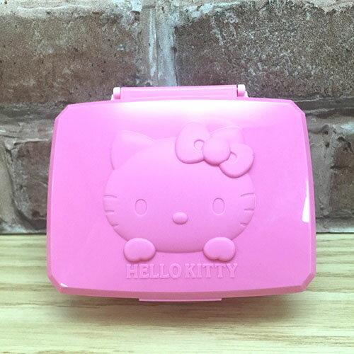 【真愛日本】17041500001 收納盒-KT立體頭型 三麗鷗 Hello Kitty 凱蒂貓 濕紙巾盒 收納盒