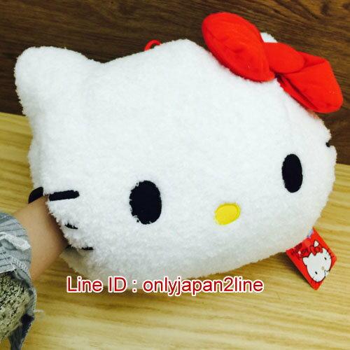 【真愛日本】16123000011暖手抱枕-KT捲毛紅結  三麗鷗 Hello Kitty 凱蒂貓  暖手枕 保暖 靠枕