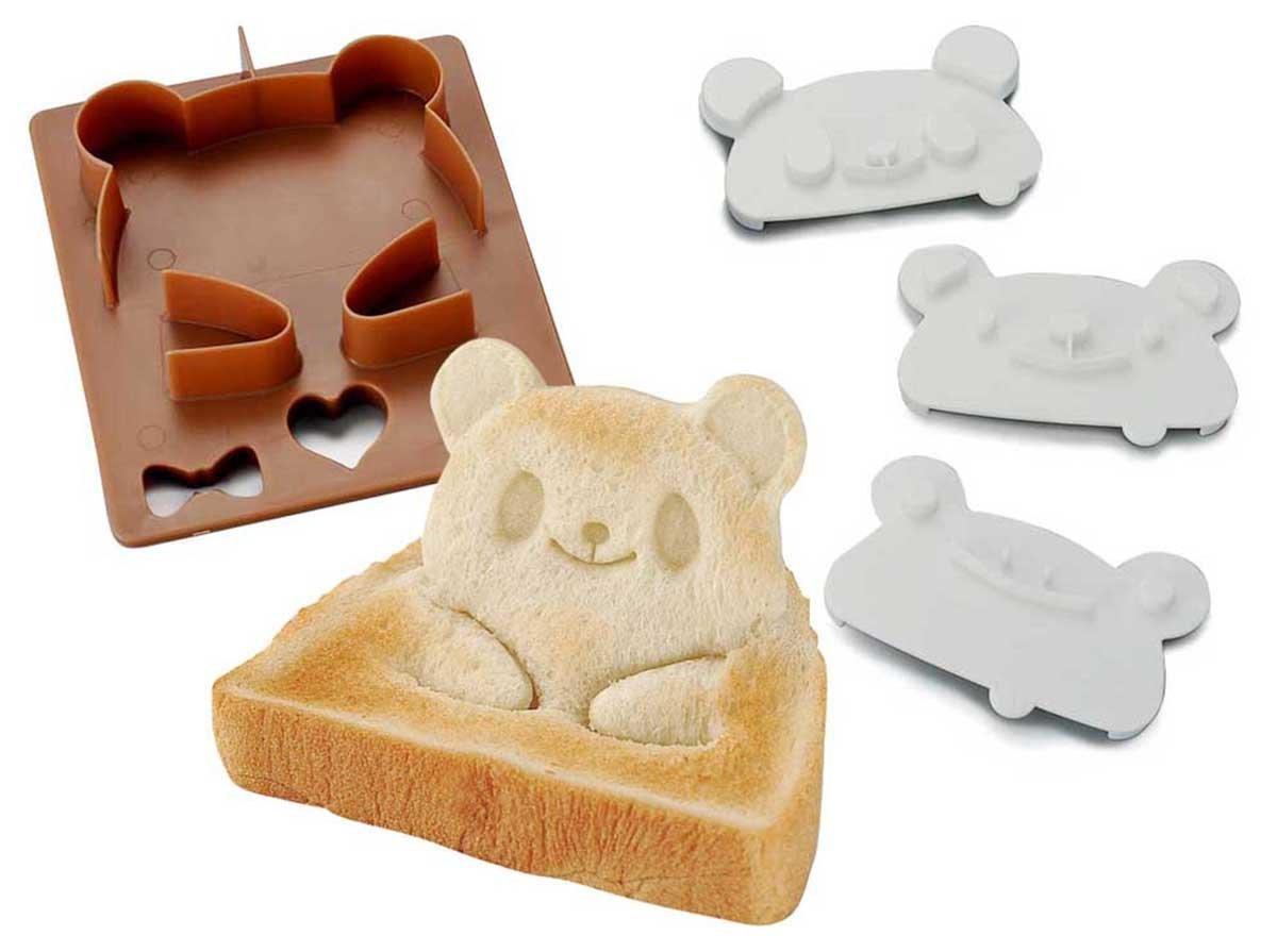 X射線【C761893】另類吐司壓模(熊貓.小熊.青蛙),廚房模具/做餐模具/野餐料理/日本雜貨/吐司模型/模具