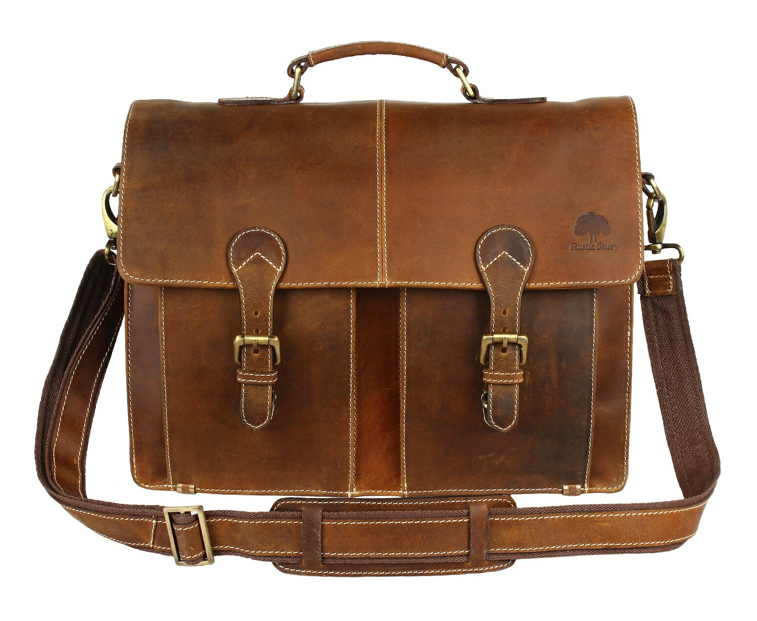 e4ed458f4b17 Leather Shoulder-Briefcase Messenger Bag Mens Handmade 16 inch Laptop-Satchel  0