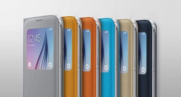 SAMSUNG Galaxy S6 S View 原廠透視感應皮套 (布面)