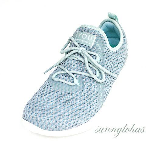 SKECHERS(女)健走鞋YOUSerene假綁帶套入式運動鞋-15840BLU灰藍[陽光樂活]