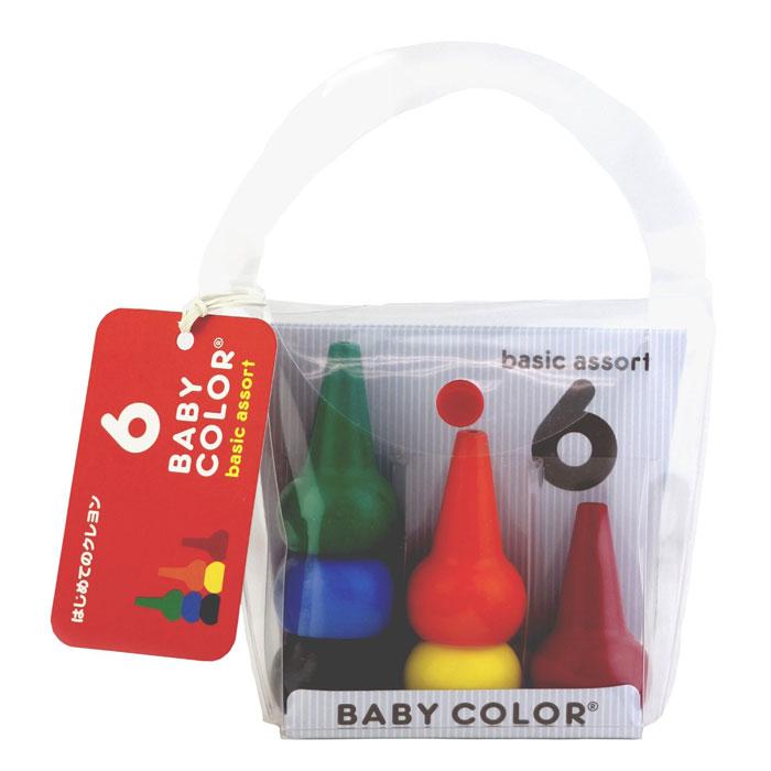 日本製 Baby Color 幼兒無毒蠟筆 6色 B款*夏日微風*