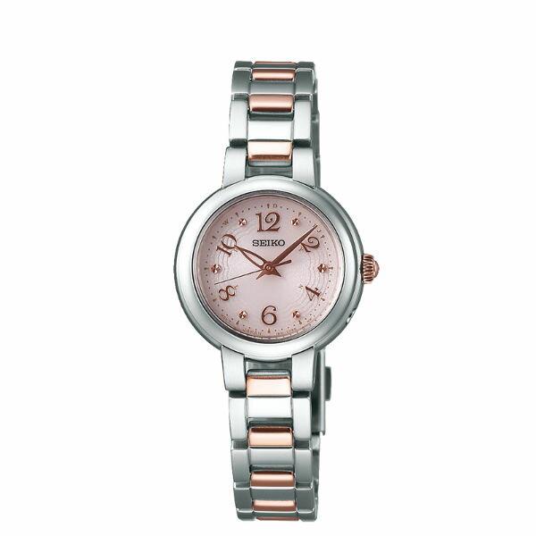 Seiko Vivace 1B21-0AM0K(SWFH049J)簡約優雅太陽能電波腕錶/粉紅面26mm