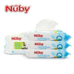 Nuby 全棉柔濕巾-單包(80抽)【悅兒園婦幼生活館】