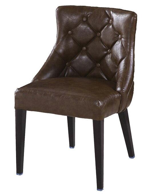 ~ 尚品傢俱~JF~485~16 霍華咖啡低背皮餐椅