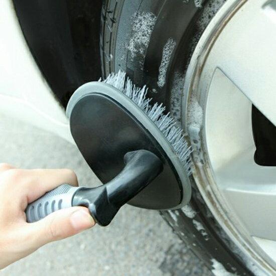 ♚MYCOLOR♚汽車輪胎去汙刷輪圈縫隙洗車清潔鋼圈刷清洗刷子清潔刷【X19-2】