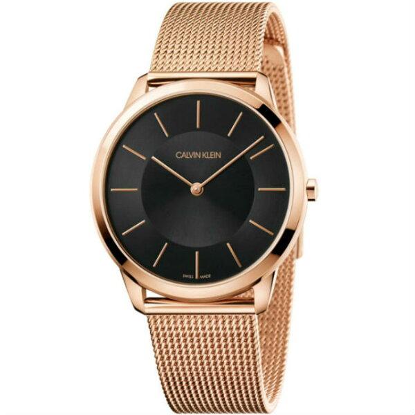 CKCalvinklein卡文克萊Minimal系列(K3M2162Y)時尚米蘭腕錶黑面40mm