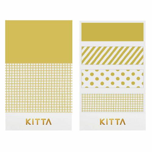 【日本KITTA】隨身攜帶和紙膠帶KITH001押金箔-金光閃閃本