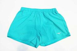 【陽光樂活】MIZUNO 美津濃 女 路跑短褲 TIFFANY綠 抗紫外線UPF50 J2TB625837