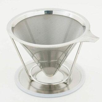 #304不銹鋼 雙層極細網咖啡濾杯 TM-02 (2-4杯)