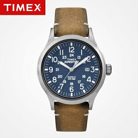 TIMEX天美時腕錶 INDIGLO冷光 美國念舊回憶日期真皮腕錶 柒彩年代【NE1637】原廠公司貨 0