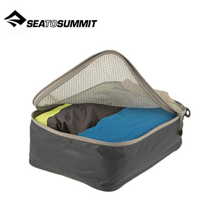 【Sea To Summit 澳洲】Travelling Light 旅行打理包 衣物打理包【S號】黑/淺灰 (ATLGMBS)