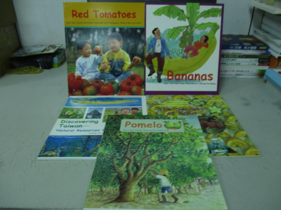 ~書寶 書T8/語言學習_QEW~Red Tomatoes_Bananas等_5本合售