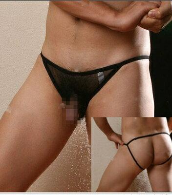 ■■iMake曖昧客■■男士性感細網前露GG雙丁字褲 (白) (185533576)