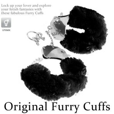 ■■iMake曖昧客■■Original Furry Cuffs金屬絨毛手銬~黑 ^(18