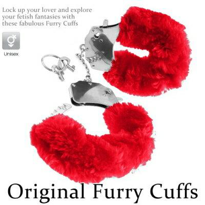 ■■iMake曖昧客■■Original Furry Cuffs金屬絨毛手銬-紅 (188560060)