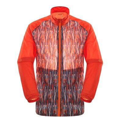 Laproie男式印花皮膚衣-珊瑚橘印花