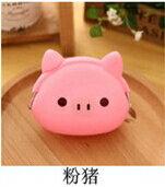 《喨晶晶生活工坊》粉紅豬 糖果色可愛硬幣包小包鑰匙包卡通女用零錢包