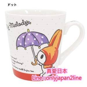 【真愛日本】16092100003馬克杯-MD雨傘    三麗鷗家族 Melody 美樂蒂  馬克杯 水杯  杯子 正品