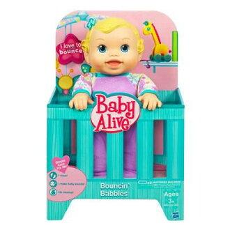 【Playwoods】[孩之寶-Baby Alive-淘氣寶貝]活力娃娃:喜悅寶貝/跳跳寶貝Bouncin\