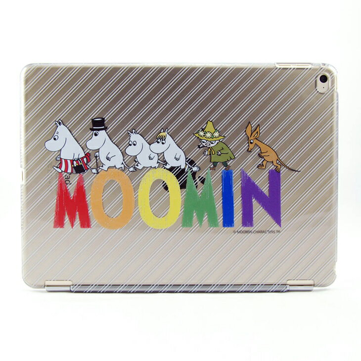 Moomin 嚕嚕米正版授權【 Happy Family(灰) 】《 iPad Mini/Air/Pro 》水晶殼+Smart Cover(磁桿)