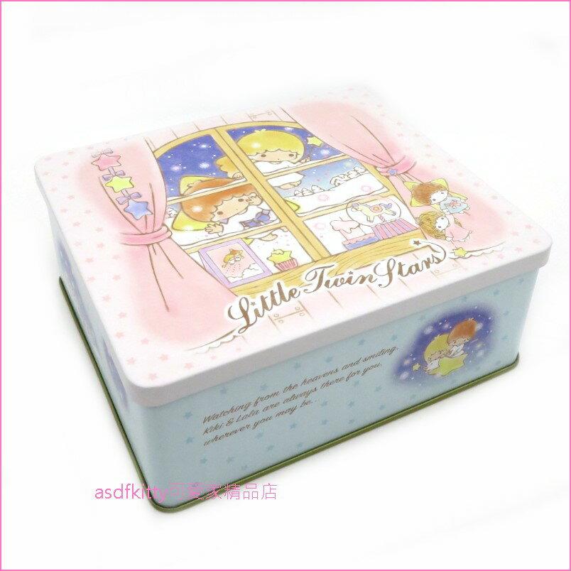 asdfkitty可愛家☆雙子星鐵皮空盒/收納盒/置物盒-日本製